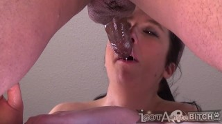 Lil cock give WHITE BITCH a huge creamy facial