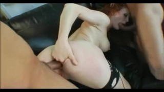 Interracial DP With BBC and Redhead 3some
