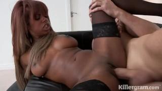 Killergram Ebony babe Danille Cole fucked by big cocked stud