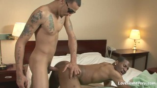 Horny black lad really loves to get fucked