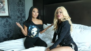 Asa Akira Learning to Dirty Talk in Spanish with Luna Star