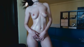 HD Romanian streaptease, oil body, bounce tities and masturbate hard