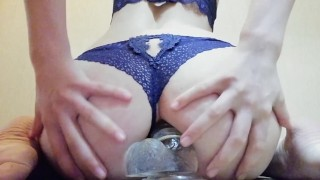 The girl has herself in anal
