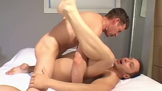 Dylan and Cedric licking feet and before anal fucking