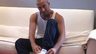 Feet loving homo JP teasing in his sporty socks