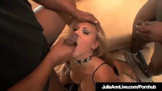 Milf Julia Ann Anal Pounded & Cummed On By 4 Big Black Cocks