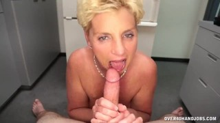 Horny Step Mom Is More Than Happy To Offer Handjob