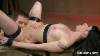 BDSM Play Date For Shackled Brunette And Master