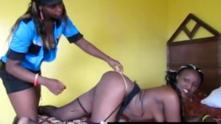 Smoking hot ebony babes dominating lesbian sex