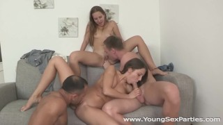 Young Sex Parties - Foxy Di - Limonika - Teen sluts fucked head to head