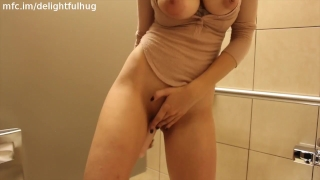 DelightfulHug MFC Public Bathroom Squirt Video For Free