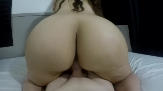 FANTASSTIC REVERSE COWGIRL RIDE WITH CREAMPIE ENDING