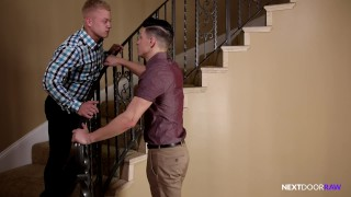 Shh.. Bareback Fuck With My Ex On Model Home Staircase