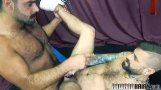 Finger banged otter deepthroating bears cock