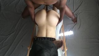 Slutty white girl loving my black dick