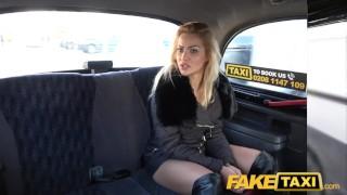 Fake Taxi Just a coat no underwear fuck