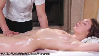 Russian College Teen Babe Elena Koshka Gets A Massage & Creampie