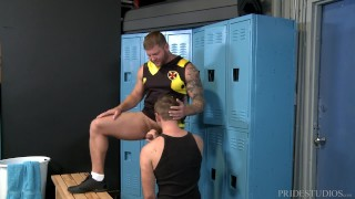 Big Hairy Jock Dude Fucks Furry Daddy's Ass Hole After Sports