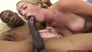 Young Jamie Rae takes a huge black cock rampage