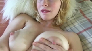 Teen fingers pussy up close and cums twice