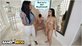 BANGBROS - Ada Sanchez Has Threesome With Her Boyfriend And Stepmom Diamond