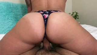 Impregnated my stepmom! Gets a deep creampie in her tight pussy.