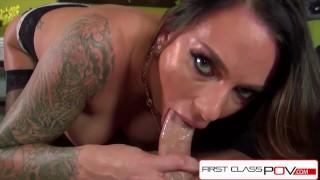 FirstClassPOV Juelz Ventura sucking a monster cock, bubble butt & huge tits