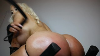 Ass spanking with a whip - Amanda Toy