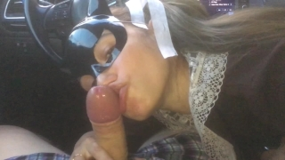 I drove a schoolgirl, she thanked me with her mouth and pussy - MaryVincXXX