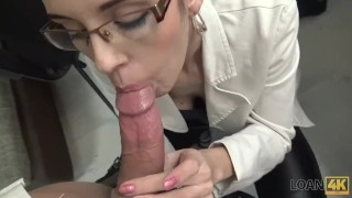 LOAN4K. Agent tells babe that sex is her only way to save her job