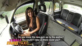 Female Fake Taxi cum in mouth wild fucking and creampie for Princess Jas