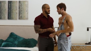 NoirMale Max Adonis Analized By Black Muscle Hunk Jason Vario