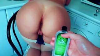 Teen pussy gets high with cannabis lube and is fucked hard - Cumtonic