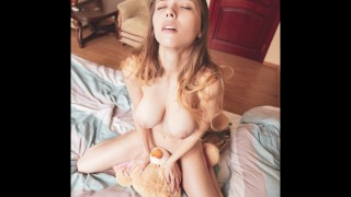 Mila Azul best erotic model photoshoot with teddy bear Gosha Plushies TV
