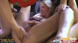 FAKEhub Originals Fake Taxi to Fake Hostel with big tits & squrting orgasms