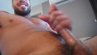 Close-up jackoff and cum with Brock Jacobs