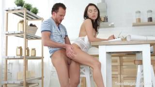 TeenMegaWorld.net - Madlen - Tough choice: work or orgasm