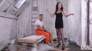 Leggy Lithuanian Enjoys Shoe Play, Toe Sucking and Pussy Fucking
