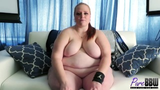 BTS interview with SSBBW beauty Julie Ginger