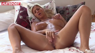LETSDOEIT - STUNNING Busty Teen Nataly Cherie Fingers Pussy To Orgasm