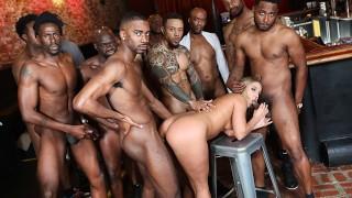 BBC Slut Candice Dare Survives Interracial Gangbang In A Bar