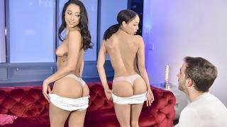 StepSiblings - Slut Sisters Compete For Cock