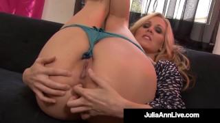 Masturbating Milf Julia Ann Pinches Her Nipples & Cums!