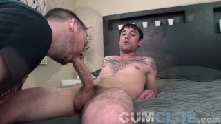 Cum Club: Big Cock Cum Swallow! - Eating a Load from a Fat Dick