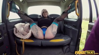 Fake Taxi Canadian babe Karma Synn rides the Bishop hard