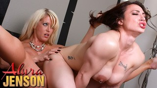 Alura Jenson strapon fun with fit babe Brandi Mae