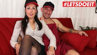 LETSDOEIT - Hot Italian Milf Rides a Big Cock At Casting