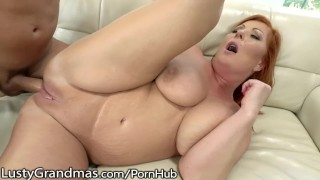 LustyGrandmas Curvy Red Cougar's Asshole gets Hammered!