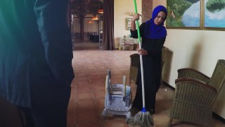 ARABS EXPOSED - Poor Janitor Gets Extra Money From Boss In Exchange For Sex