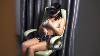 My brother in law caught me masturbating in virtual reality then fucked me